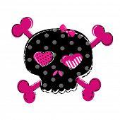stock photo of skull crossbones  - cute skull with crossbones - JPG