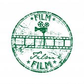 Постер, плакат: Film rubber stamp