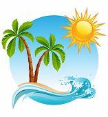 Постер, плакат: Тропический остров