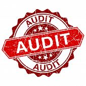 picture of financial audit  - Audit red vintage stamp isolated on white background vector - JPG