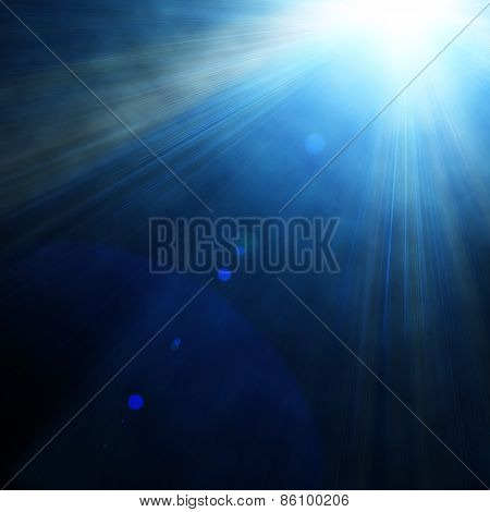 Illustraction Of Blue Spotlight