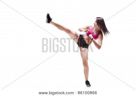 Fitness Girl Fighting