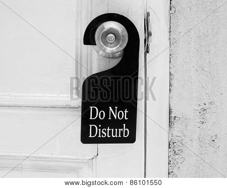 Do Not Disturb Sign Hang On Door Knob