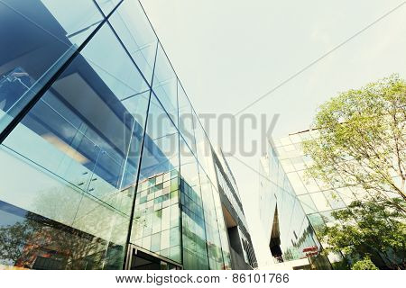 Beijing, China-July 14,2014:The official apple store building exterior in Beijing.