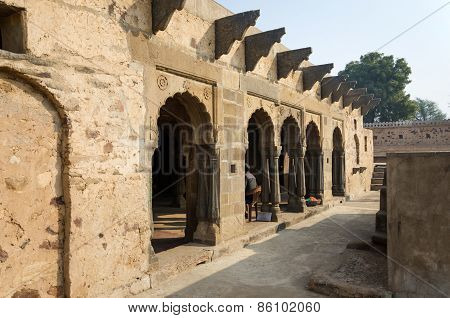 Jaipur, India - December 30, 2014: Arcade Of Chand Baori Stepwell In Jaipur