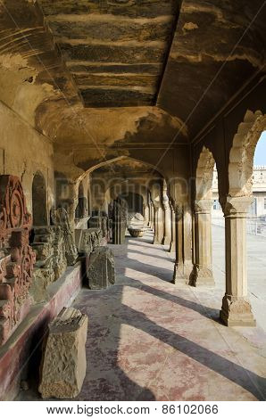 Jaipur, India - December 30, 2014: Corridor Of Chand Baori Stepwell