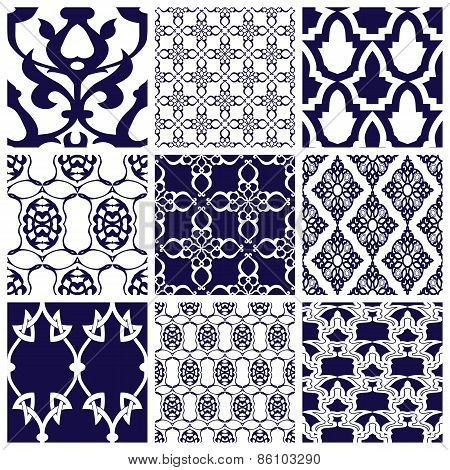 Set of Patterns in Arabian Style.