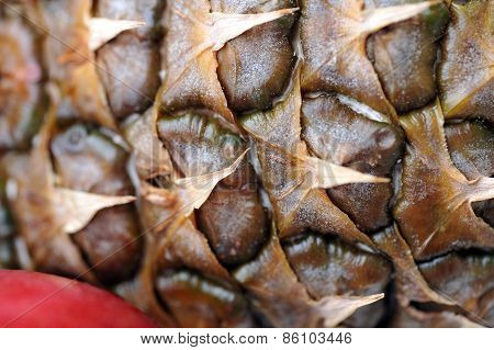 Skin Of A Ripe Pineapple