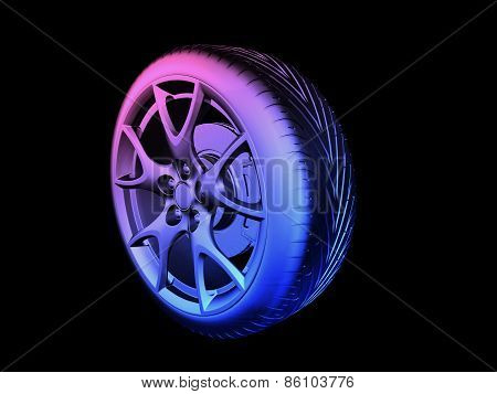 Colorful Tyre