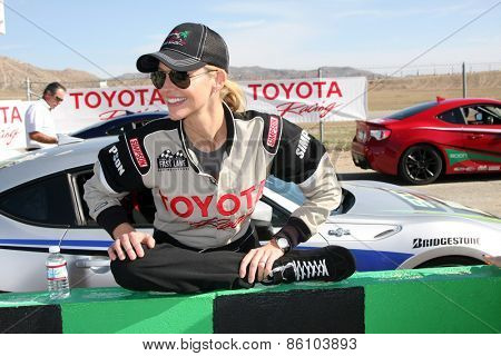 LOS ANGELES - FEB 21:  Tricia Helfer at the Grand Prix of Long Beach Pro/Celebrity Race Training at the Willow Springs International Raceway on March 21, 2015 in Rosamond, CA