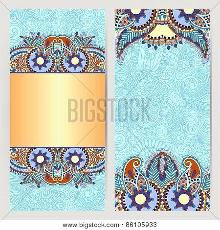 card for vintage design, ethnic pattern