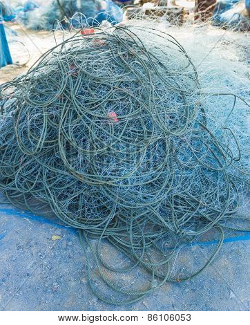 Fisherman Blue Net Catch Crab