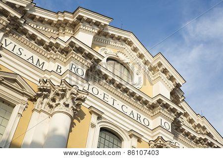 Basilica Dei Santi Ambrogio E Carlo Al Corso, Rome