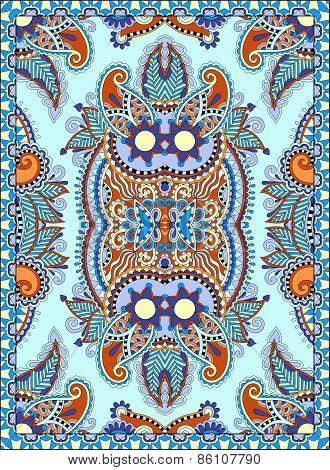ukrainian floral carpet design for print on canvas or paper