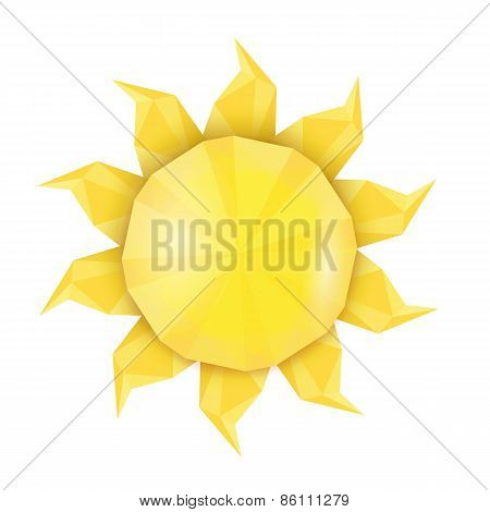 Sun icon . Vector illustration