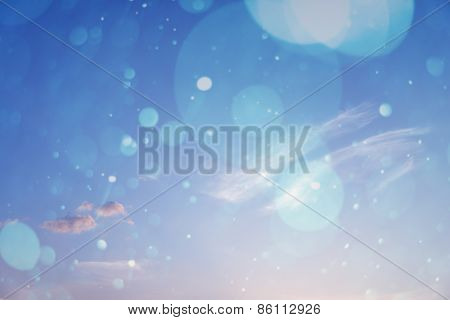 Blurred Nature Background. Sandy Beach Backdrop With Turquoise Water And Bright Sun Light. Summer Ho