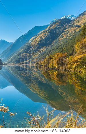 Beautiful Lake In Jiuzhaigou National Park