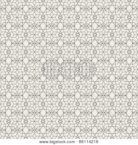 Vector Seamless Pattern. Modern Stylish Texture. Geometric Linear Braids