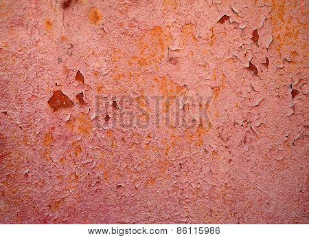 Texture Of Rusty Metal Wall