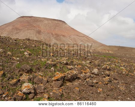 A mountain in the desert of Fuerteventura