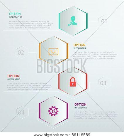 Infographic hexagon
