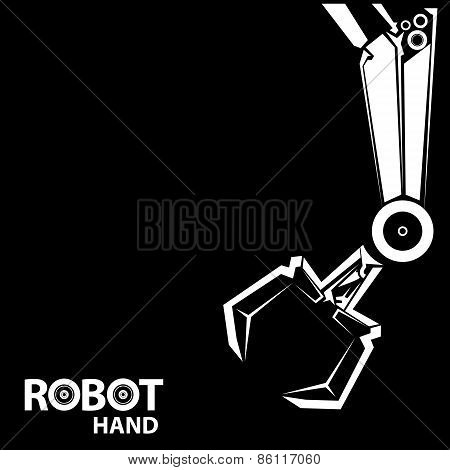 vector robotic arm symbol. robot hand