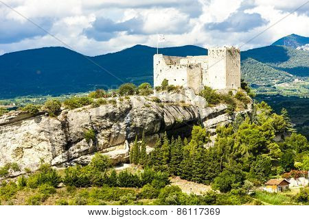 ruins of castle in Vaison-la-Romaine, Provence, France