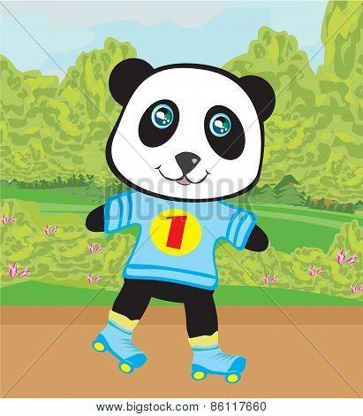 Panda Roller Skating