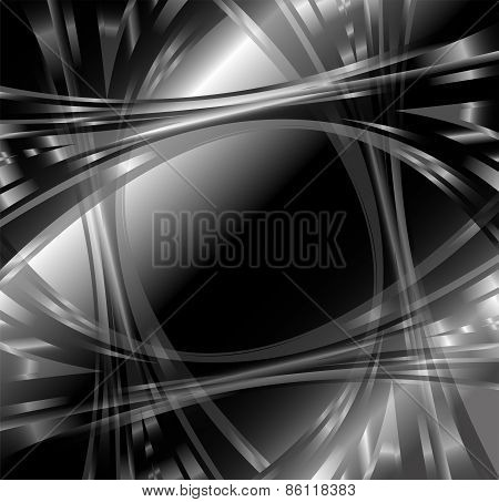 Black and white abstract wave background