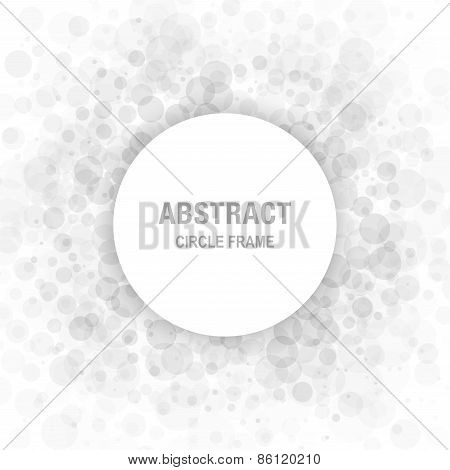 Gray Abstract Circle Frame Design Element, cosmetics, perfume, label background