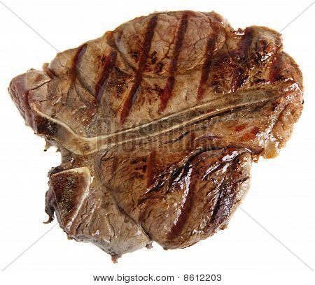 Grilled T-bone From Above