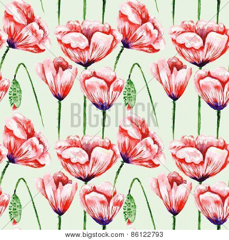 Eco Poppy Floral Pattern