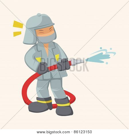 People Theme Fireman Elements Vector,eps