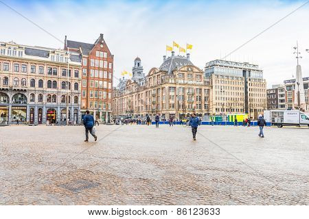 View Of The Dam Square, Amsterdam