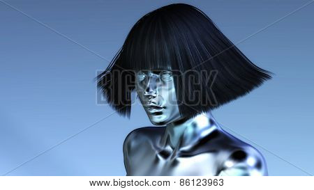 Digital 3D Illustration Of A Manikin
