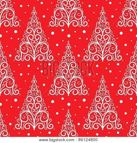 Ornamental Christmas tree pattern