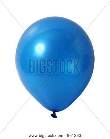Blue balloon with path