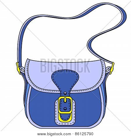 Vector Blue Ladies Handbag