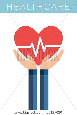 Healthcare flat vector symbol