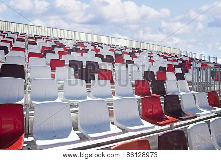 Empty Formula Racing Arena Seats