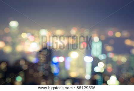blurred city