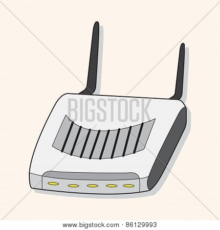 Computer-related Equipment Wireless Sharing Device Theme Elements