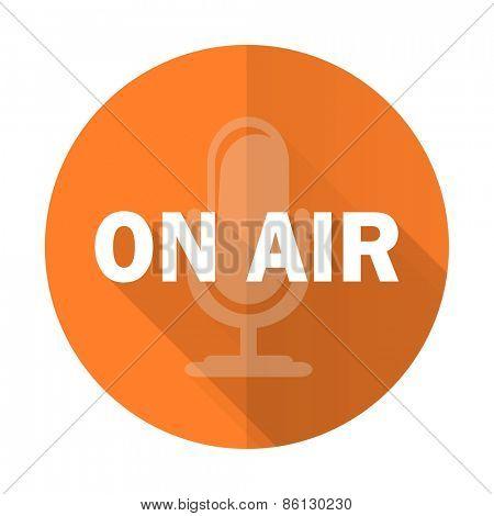 on air orange flat icon