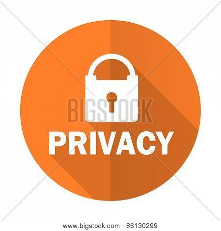 privacy orange flat icon