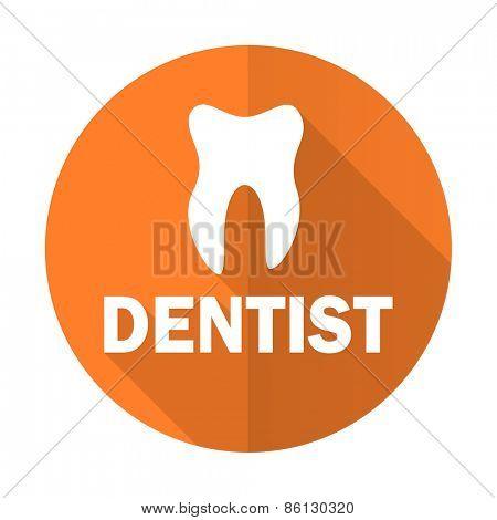 dentist orange flat icon