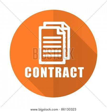 contract orange flat icon