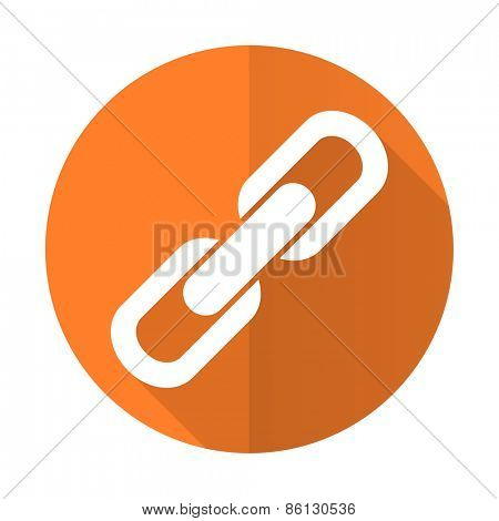 link orange flat icon chain sign
