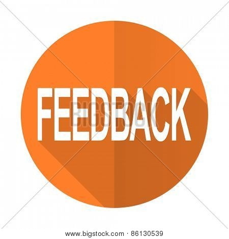 feedback orange flat icon