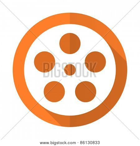 film orange flat icon