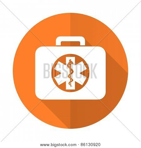 rescue kit orange flat icon emergency sign